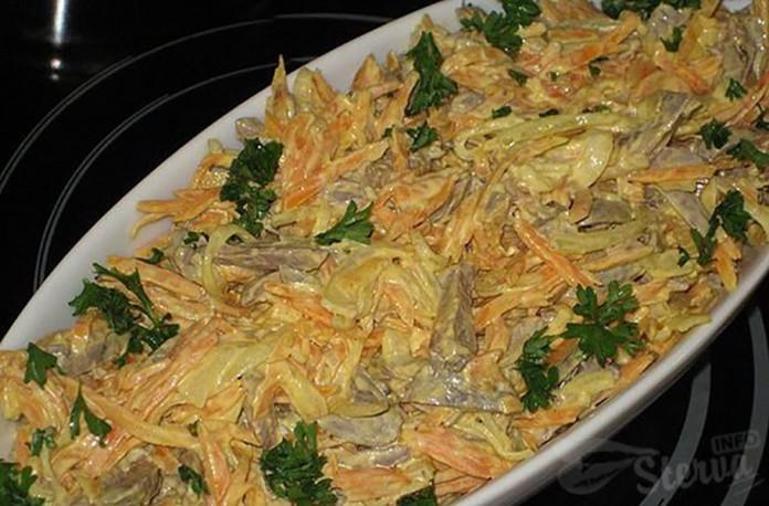 хазар салат из сердца и морковки