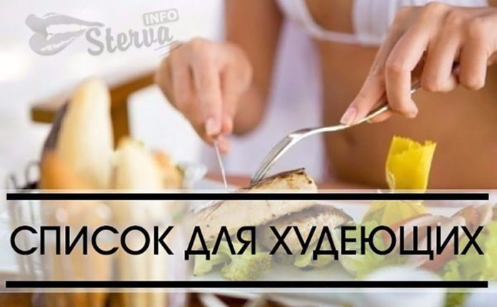 Список продуктов при похудении, что можно есть когда худеешь
