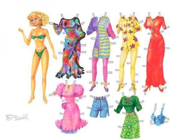 бумажная-кукла-с-набором-одежды