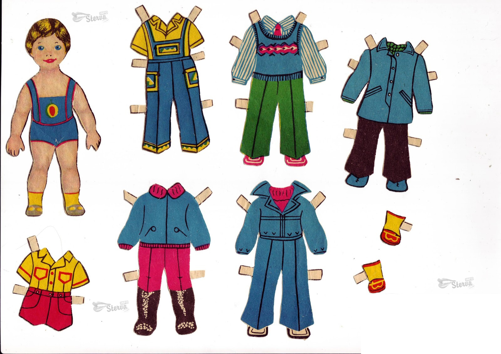 Как сделать куклу из бумаги для мальчиков
