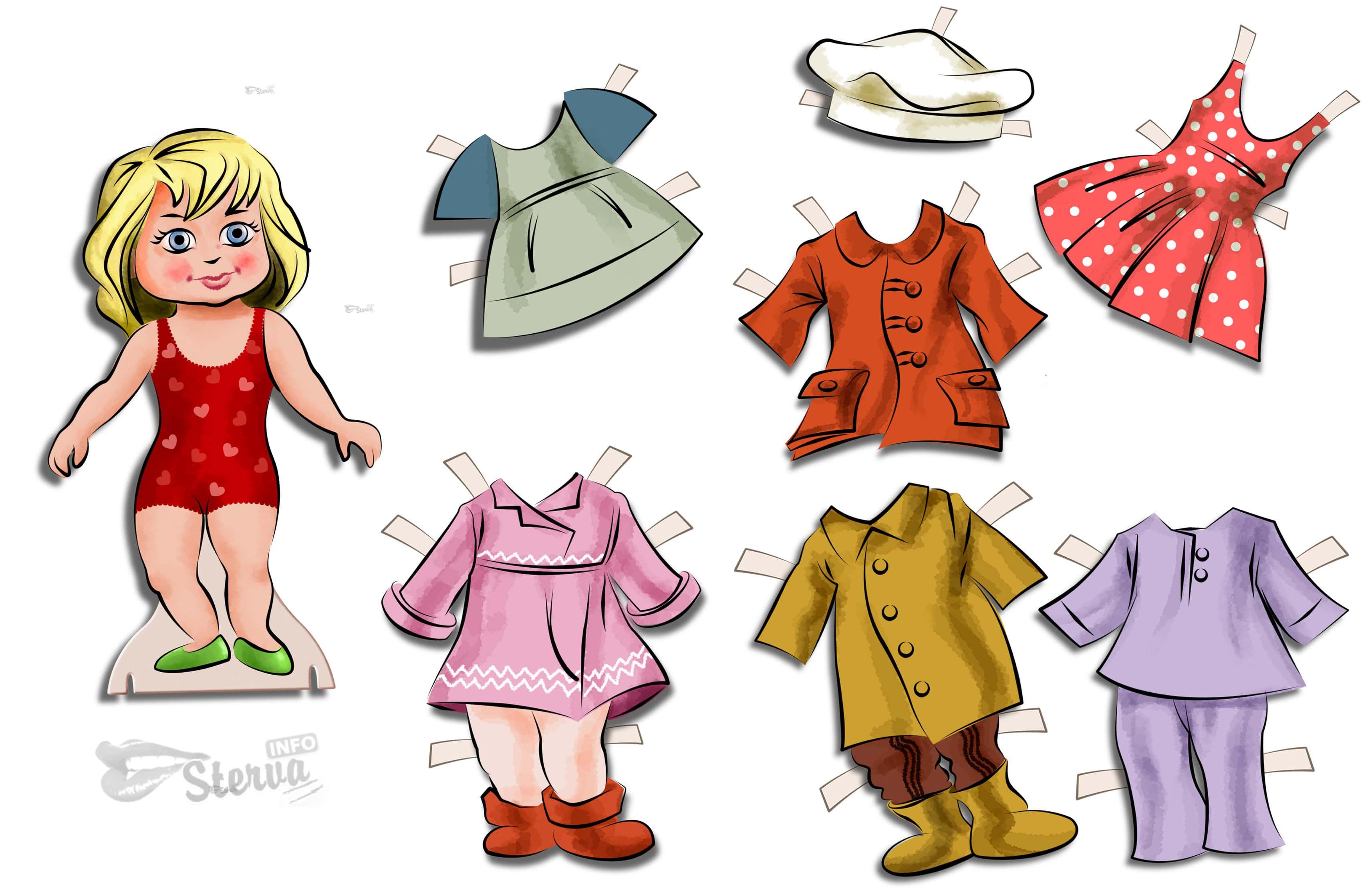 Бумажные куклы с одеждой для вырезания распечатать бесплатно