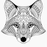 расскраски-антистресс-для-взрослых-морда-лисы