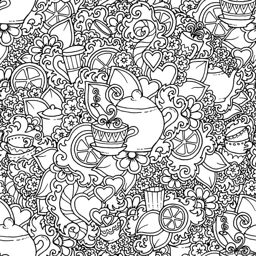 Раскраски антистресс для взрослых Арт терапия бесплатно