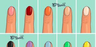 Каким цветом красите ногти, цвет ногтей и характер