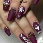 фото ногти маникюр новый год бардо