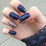 фото ногти маникюр новый год синий