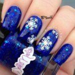 ногти снежинки новый год