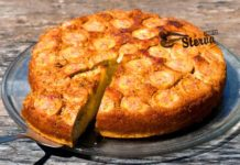 Блюда на Масленицу Банановый пирог