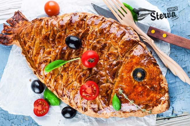 Блюда на Масленицу Пирог с красной рыбой