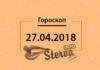 Гороскоп на 27 апреля 2018 года для всех знаков Зодиака