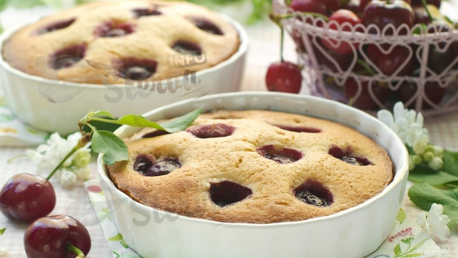 Пирог с черешней два простых рецепта (фото)