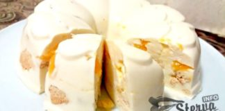 Торт без выпечки Снежок десерт за пару минут