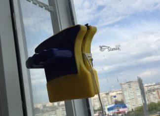 Магнитная щетка для окон быстро, удобно, безопасно и чисто